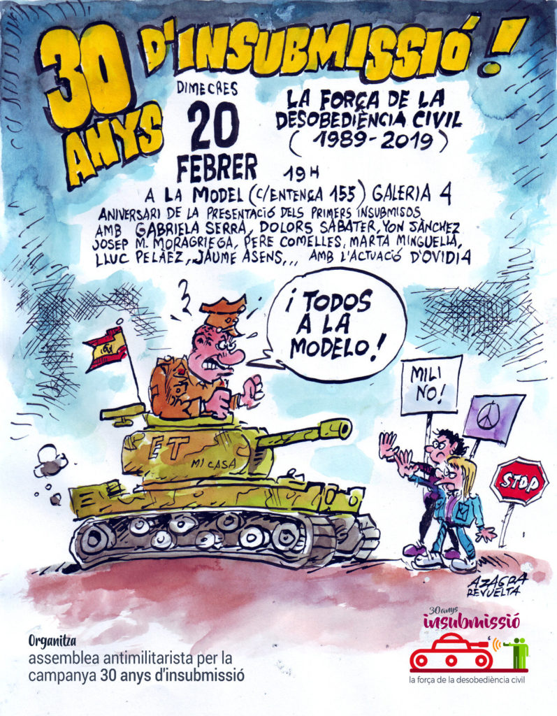 Cartell Azagra 30 anys Insubmissió