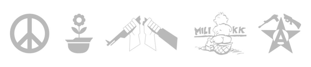 logos antimilitaristes